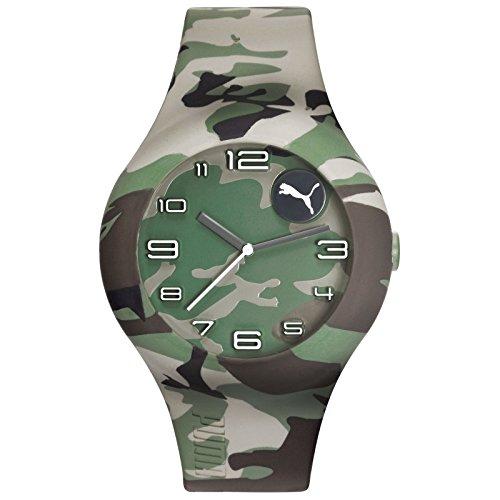 PUMA Time FORM XL - camo PU103211029 Reloj de Pulsera para hombres Carcasa Maciza