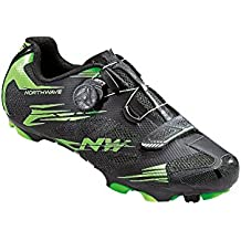 Northwave Scorpius 2 Zapatos y bicicleta de montaña, negro-verde-fluoro, schuhgröße:gr. 44