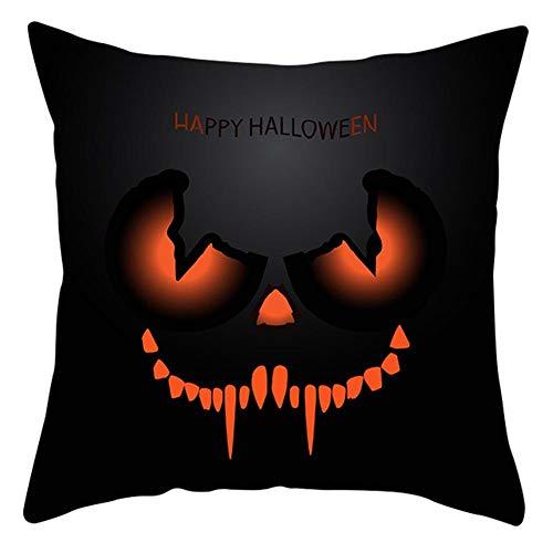 Leezo Peach Velvet Kissenbezug Ghost Skull Kissenbezug Haushalt Dekorative Kissenbezug Halloween Dress Up Supplies