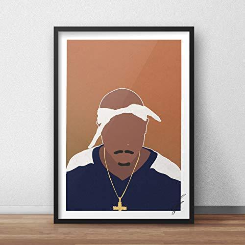 Ilustración inspirada en Tupac Shakur