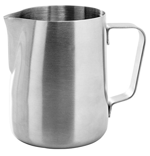 41q1ji5pldL - Ozeri Deluxe Stainless Steel Milk Frother and 12-Ounce Frothing Pitcher with Extra Whisk Attachment, Silver