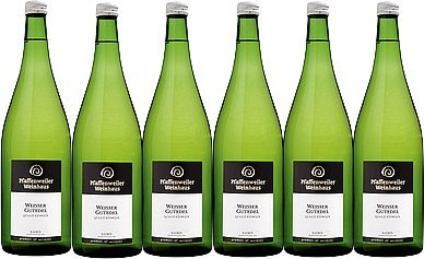 Pfaffenweiler Weinhaus Weißer Gutedel Qualitätswein feinherb (6 x 1,0L)