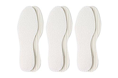 3er-Pack Barfußsohle aus 100% Baumwolle mit Latexdämpfung –Made in Germany- Komfortsohle-Frotteesohle- Sommereinlage- Waschbar und Luftdurchlässig von Berckland in Gr. 38 (Scholls Dr. Schuheinlagen)