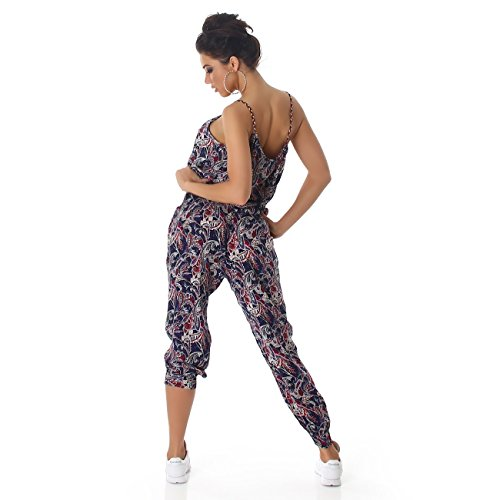 Damen Overall Anzug Hausanzug Jumpsuit Bodysuit Einteiler Lang Trendy Hosenanzug Mix (Variante 2)