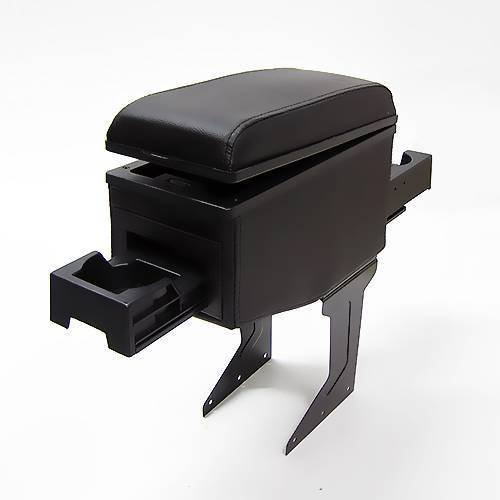 carjoy 42007Universal Armlehne Armlehne Mittelkonsole Aufbewahrungsbox Kunstleder schwarz (Mittelkonsole Integra)