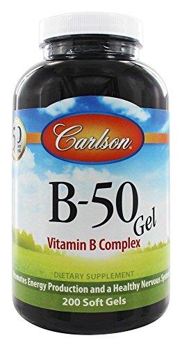 Carlson Labs - B-50 Gel vitamina del complesso B - 200 Softgels