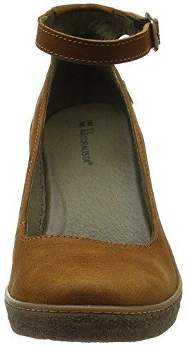 El Naturalista Nf76 Pleasant Lichen, Chaussures avec Bride à la Cheville Femme Marron (Wood)
