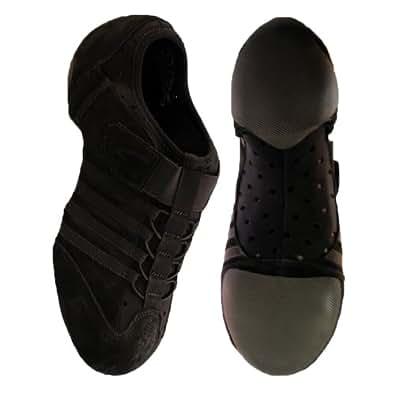 Capezio PP15 Jag Jazzschuh/Sneaker mit geteilter EVA-Sohle - Schwarz - Größe 32