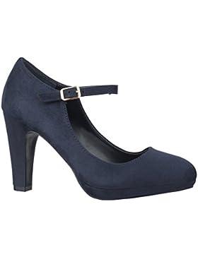 Elara Damen Pumps   Bequeme Riemchen High Heels   Vintage-Style   Abendschuh Trendy   Chunkyrayan