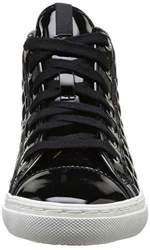 Geox D New Club A, Sneakers Hautes Femme Noir (C9999)
