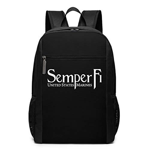 GgDupp Semper Fi US Marine Corps School Bag Travel Backpack 17 Inch Laptop Bag -