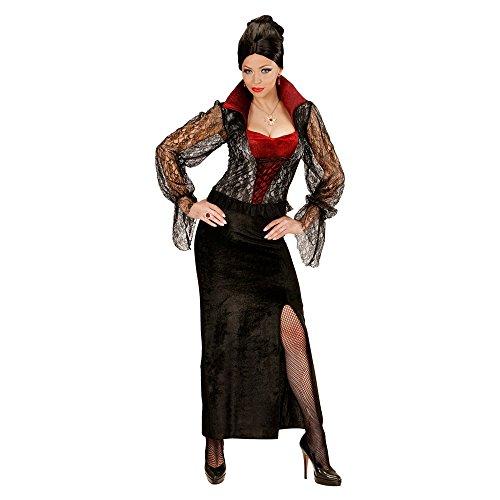 WIDMANN 04044 - Erwachsenenkostüm Vampir Lady, Kleid, Größe XL, schwarz