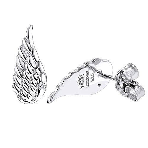 sterling-silver-diamond-angel-wing-earrings-for-women-luxurman-love-quotes-002cth-i-colorsi-i-clarit