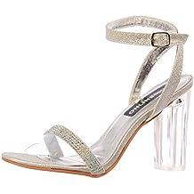 Plexiglás Tiras De Diamante De Onlineshoe Mujeres Mediados Zapatos Fiesta De  Tacón 85250958a32f