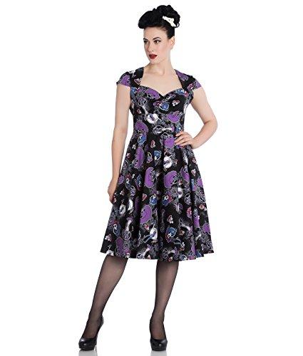 Hell Bunny Graciela 50s Jahre Stil Halloween Skelett Kleid - Schwarz, UK 12 - Halloween 50er Jahre Kostüm