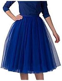 De la Mujer Corto Vintage falda Petticoat Ballet tutú de burbujas Multicolor