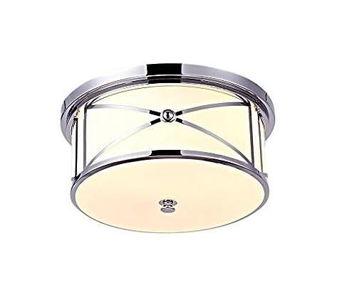 Saint Mossi Modern Crystal Raindrop Chandelier Lighting Flush mount LED Ceiling Light Fixture Pendant Lamp for Dining Room Bathroom Bedroom Livingroom Glass Shade Chrome Diameter 42 cm x Height 13 cm