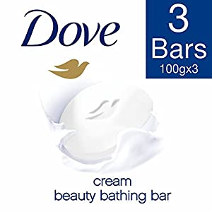 Dove Cream Beauty Bathing Bar With ¼ Moisturizing Cream To Give You Softer, Smoother Skin, 3X100 g