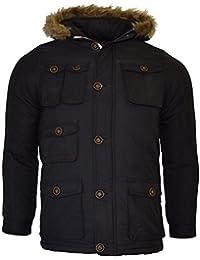 Brave Soul–Chaqueta acolchada de invierno abrigo escuela Parka bolsillos