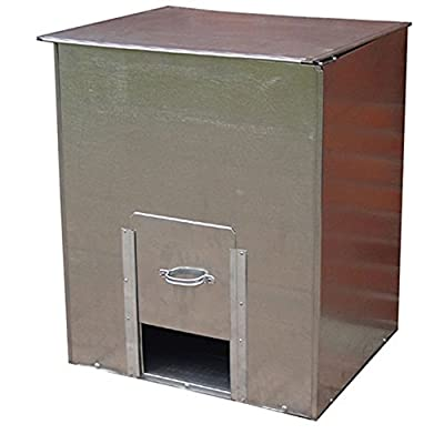 Parasene Galvanised Steel Coal Bunker Fuel / Salt / Feed / Corn / Storage (No.3 (150kg))