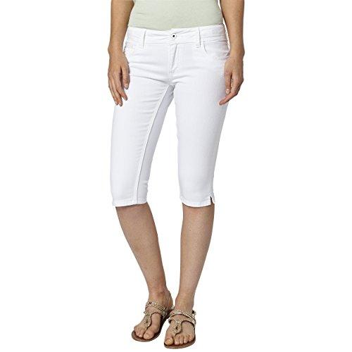 Pepe Jeans Damen Saturn Crop Shorts, Weiß (Denim), 36 (Herstellergröße: 26) -