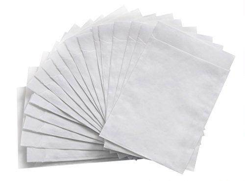 50 Stück kleine weiße transparente PERGAMIN-Tüten (13 x 18 cm + 2 cm Lasche) Papiertüten zum Befüllen Aufbewahrung Basteln Verpackung für Gastgeschenke Mitgebsel-Tüten give-aways Pergamintüten (Basteln Papiertüte)