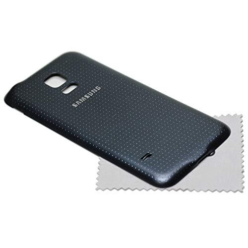 Akkudeckel für Samsung Original für Samsung Galaxy S5 Mini G800F Back Cover Rückwand schwarz mit mungoo Displayputztuch (Galaxy Back S5 Cover-ersatz)