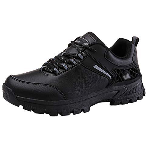 Yuanu Herren Wanderschuhe Wandern Wasserdichte Outdoor-Schuhe Rutschfeste Weiche Und Bequeme Laufschuhe Schwarzer Stil 1 45