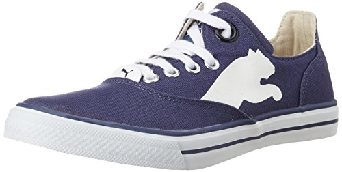 Puma Men's Limnos CAT Ind. Navy Blue and White Sneakers - 4 UK/India (37 EU)  available at amazon for Rs.1210
