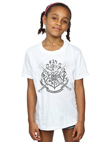 Harry Potter Girls Hogwarts Badge Wands T-Shirt