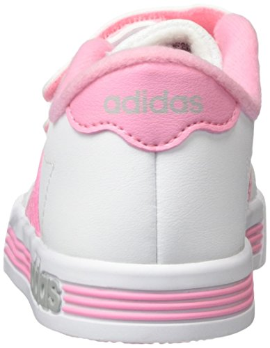adidas Unisex-Kinder Daily Team Inf Hallenschuhe Weiß (Weiß/Pink/Schwarz)