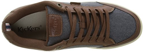 Kickers Aart Hemp, Baskets Basses Homme Marron (Marron Bleu)
