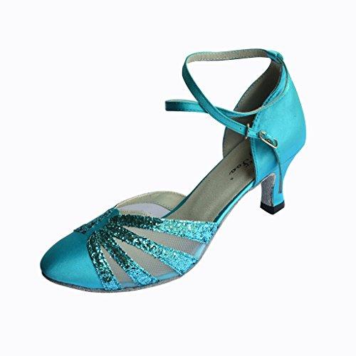 Jig Foo Chaussures de Pompes Dance pour Femme Bleu - Bleu