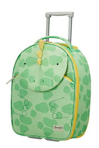 Samsonite Happy Sammies Upright Valigia per Bambini, 45 cm, 24 L, Verde (Dino Rex)