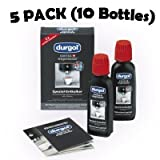 Durgol Swiss Espresso Decalcifier for Espresso and Coffee Machines 5 Pack (10 Bottles)