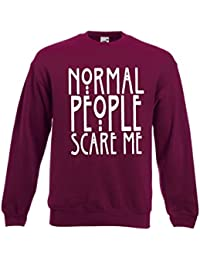 "Fruit of the Loom - Sudadera unisex con inscripción en inglés ""Normal People Scare Me"", disponible en 4 colores"
