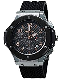 Skone 5144EG-1 Chronograph Black Dial Resin Strap Wrist Watch / Casual Watch - For Men's