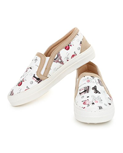 ff9468bc953 Buy Trase Comfy White Loafer   Sneaker   Casual Shoes for Women   Girls on  Amazon