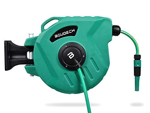 Boudech avvolgitubo automatico per giardino acqua girevole ed autoavvolgente con pompa da 15 mt *avvoltubo15metr*
