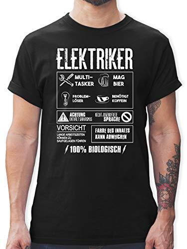 Handwerk - Elektriker - L - Schwarz - L190 - Herren T-Shirt und Männer Tshirt