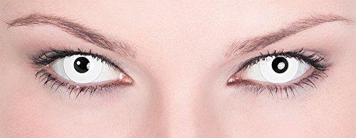 Maskworld SMI416136(2) Kontaktlinsen/Tageslinsen, Unisex– Erwachsene, weiß - 2