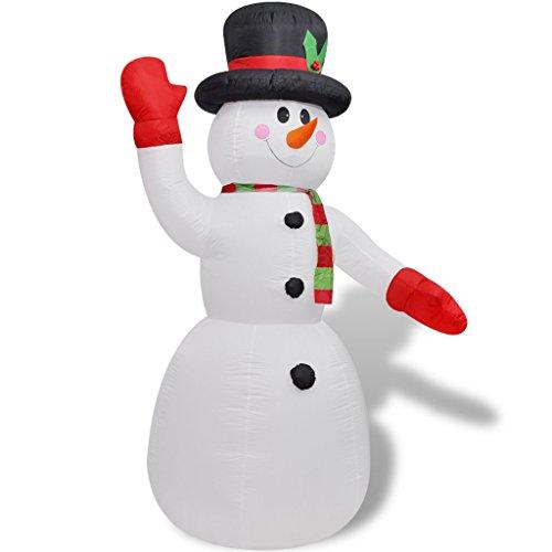 Festnight Weihnachten Deko Schneemann Aufblasbar 240cm LED Beleuchtet Weihnachtsfigur Weihnachten-Dekoration Gartendekoration (Aufblasbare Schneemann Weihnachten)