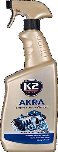 K2 | Akra Moteur Parure, élimine la saleté tenace à moteurs, Outils et sols, 770 ml Bouteille à pompe