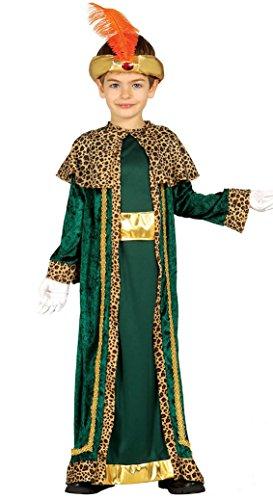 Imagen de guirca  disfraz infantil de rey mago, 5 6 años, color verde 42430.0