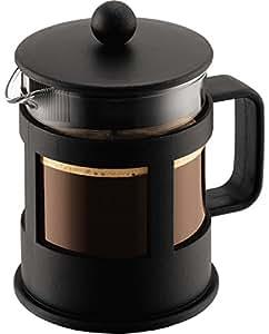 Bodum 1784-01 Kenya Cafetière à Piston 4 Tasses 0,5 L Noir