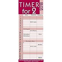 Timer for 2 Lifestyle 2018: Familienkalender mit 3 breiten Spalten. Hochwertiger Familienplaner mit Ferienterminen, Vorschau bis März 2019 und nützlichen Zusatzinformationen.
