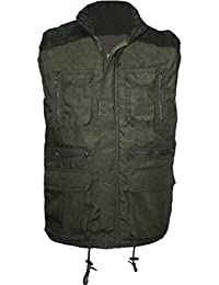 Men's Designer Padded Multi Pocket Gilet Full Zip Work Body-warmer Cord Jacket