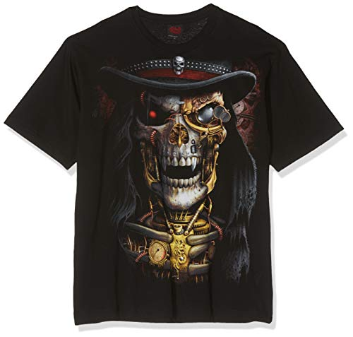 Spiral Direct Herren Steam Punk Reaper T-Shirt, Schwarz (Black), Gr. XL