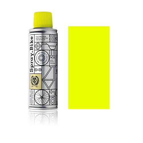 SPRAY.BIKE Fahrrad Lackspray - für detailreiche Arbeiten wie Linien, Schablonen oder Kleine Bereiche - Pocket SOLID Kollektion in der praktischen 200ml Dose (Neon Gelb)