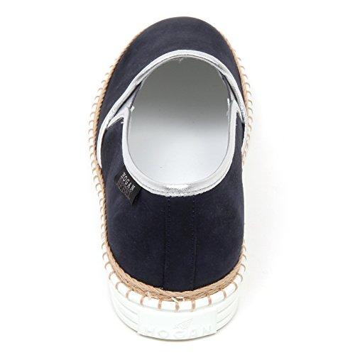 D0258 Sneaker Donna Hogan Rebel R260 Scarpa Blu / Argento Slip Sur Chaussure Femme Blu / Argento